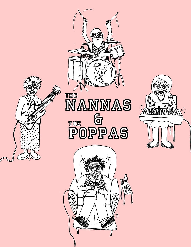 nannas and poppas band poster